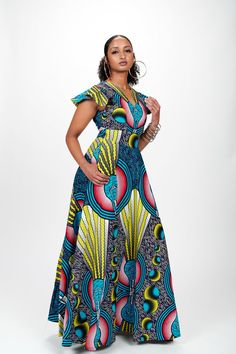 Laide African Print Dress