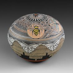 Insect World Seed Pot by Wallace Nez | Native American Pottery | Navajo