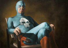 Aging Superhero Oil Paintings