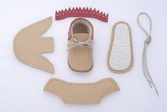 DIY baby shoes don't come cuter than these. Yes, this ingenious little company makes adorable leather baby shoe kits you can make quickly and easily. Using high quality natural cattle leather, you don't need any sewing machine to make our shoes- just threads and needles which are attached to each kit.