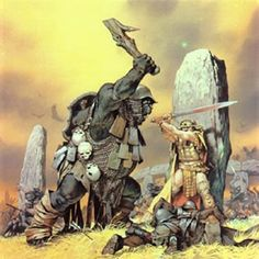 King Ostoher in fighting pose.    In T.A. 492, the Olog Warlord Rogrog led his orcish forces through Rhudaur and down the Gwathló valley to strike Cardolan from the east.  The assault crushed the Dúnedain, and the Half-troll's armies swept northwestward  along the Old North Road. Rogrog sacked the Cardolani capital, forcing King Ostoher to flee. Ostoher travelled north into the barrow-downs, hoping to reach Arthedain. Unfortunedly,  Rogrog's Orcs cut him off before the King could take…