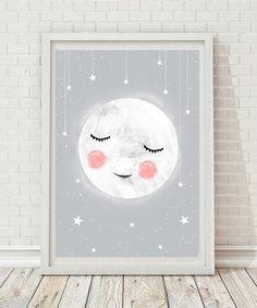 pokój dziecka - obrazy i plakaty-śpiący księżyc  A4