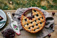 a lattice cherry pie — the farmer's daughter