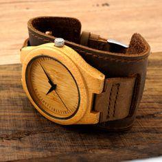 BOBO F18 DO PÁSSARO de Bambu Dos Homens Marca de Topo Relógios De Madeira Chicago Pulseiras pulseira de Couro Genuíno Bandas Straps Com Caixa de Presente do Transporte Da Gota