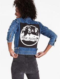 d4b6b406cd Reworked Pink Floyd Denim Jacket