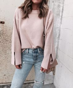 Blush pink can be worn during Fall, Spring, Summer, or Winter. It's such a versatile color if styled correctly.