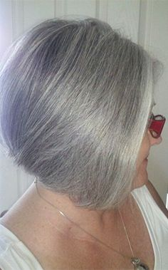 Showing off silver hair will be anything but unacceptable for clients of all ages.