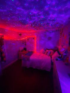 Neon Bedroom, Cute Bedroom Decor, Room Design Bedroom, Bedroom Decor For Teen Girls, Pretty Bedroom, Room Ideas Bedroom, Indie Room, Aesthetic Bedroom, Dream Rooms