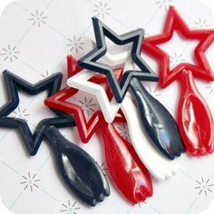 Star cupcake toppers for superheroes