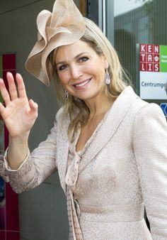 As always Queen Máxima seemed to be in a really good mood.
