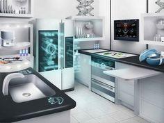 Smart Kitchen Design Tipps & Lösungen - Home Dekoration ideas Smart Kitchen, Home Staging Tipps, Kitchen Gadgets, Kitchen Appliances, Kitchens, Kitchen Tools, Smart Home Technology, Intelligent Technology, Business Technology