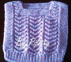 Este colete foi trabalhado com dois fios de lã para bebê: a Keamor e a Mais Bebê Cores.  Usei agulha 4.5   Iniciei montando 41 pontos.   F...