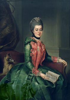 Princess Frederika Sophia Wilhelmina of Orange by Johann Georg Ziesenis, 1768-69    (Thanks to Isiswardrobe)
