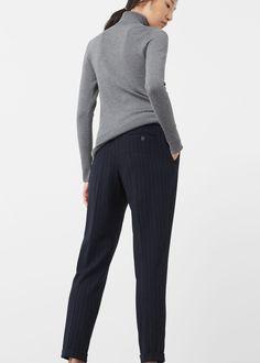 Striped trousers   MANGO