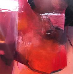 "Dimensions of Passion-Abstract by Joan Fullerton Acrylic ~ 24"" x 24"""