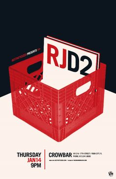 RJD2 gig poster – by Mark Malazarte