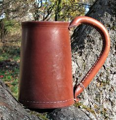 Leather Tankard by MadeOfLeather on Etsy