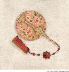 Korean Image, Korean Art, Asian Art, Korean Painting, Blue Painting, Chinese Painting, Korean Traditional, Traditional Art, People Illustration