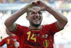Belgium 2-1 Algeria: all smiles after Dries Mertens' winning goal.