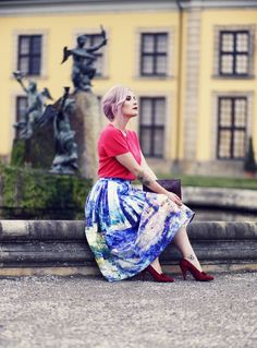 Retro Style, Retro Fashion, Vintage Style, 50s, 40s, Retro Look, Vintage, Midi Skirt, Chicwish