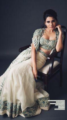 Beautiful Bollywood Actress, Beautiful Indian Actress, Samantha Images, Samantha Ruth, Bollywood Designer Sarees, Green Lehenga, South Actress, Cute Actors, Indian Designer Wear