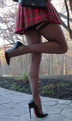 Hot High Heels, Sexy Heels, Womens High Heels, Stiletto Heels, Stilettos, Pantyhose Outfits, Pantyhose Heels, Stockings Heels, Women With Beautiful Legs