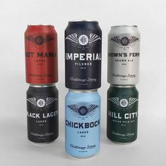 Chattanooga Brewing Co. Cans by Widgets & Stone All Beer, Wine And Beer, Brewery Logos, Beer Brands, Beer Packaging, Beer Brewing, Craft Beer, Beer Labels, Ale