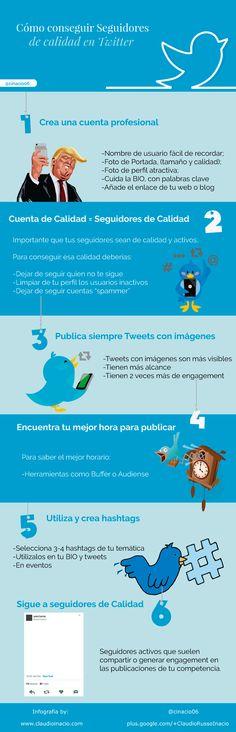Cómo conseguir seguidores de calidad en Twitter #infografia
