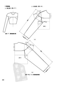 Sewing Tutorials, Sewing Patterns, Pola Lengan, Sewing Sleeves, Pattern Drafting, Jacket Pattern, Pattern Making, Fashion Sketches, Dressmaking