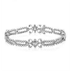Kwiat Women's 18 Karat White Gold Diamond Brocade Bracelet ($20,600) ❤ liked on Polyvore featuring jewelry, bracelets, accessories, jóias, white gold jewelry, white gold diamond jewelry, 1920s jewelry, kwiat and 18k jewelry