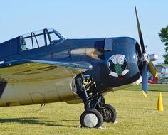 Wildcard Wildcat - This Grumman Wildcat FM-2P Wildcat, was built in 1945. It is one of six warbirds brought to Oshkosh by the Texas Flying Legends Museum.