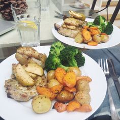 Sweet Monday recipe, Great British Butcher lemon and mustard crumb, pork with roasted apple