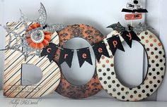 """Altered """"Boo"""" sign by Authentique Paper Design Team Member Shellye McDaniel"""