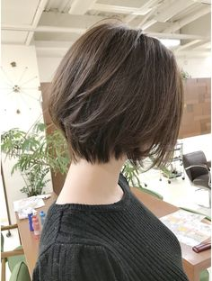 Pin on 髪型 Japanese Short Hair, Korean Short Hair, Japanese Haircut, Hairstyles Haircuts, Pretty Hairstyles, Braided Hairstyles, Shot Hair Styles, Curly Hair Styles, Short Hair Dont Care