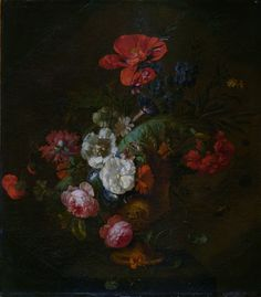 Jan van Huysum - Flowers in a Stone Vase