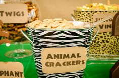 Safari / Jungle Birthday Party Ideas | Photo 10 of 48