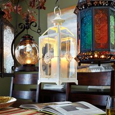 Medium Jeweled Lantern - 5x5x13 on sale now $12
