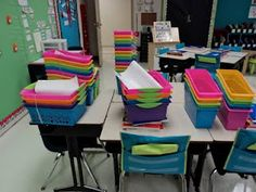 awesome organization ideas. check this out before the first day of school! love all the color.
