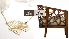 ...wear this necklace by stone & honey, decorate with that chair by crate & barrel...