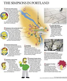 The #Simpsons' map of Portland. (And you thought you knew all the Oregon-Simpsons connections...)