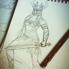 Work in Progress - Fanart Wonder Woman by Alyssia Lalande :   https//www.instagram.com/alyssia.lalande    And on facebook :  https//www.facebook.com/alyssia.artgallery   Thanks :D  #wonderwoman #art #comics #illustration #fanart #dessin