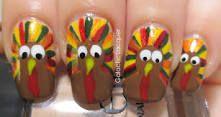 thanksgiving turkey nail art - Google Search