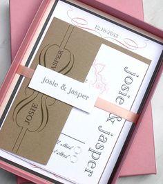 Peaches & Cream  Wedding Invitation With Ivory Blush by BeaconLane, $100.00