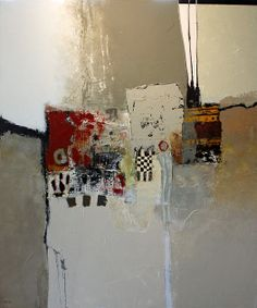 """""""Reluctance"""" mixed media on canvas"""