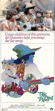 The Pied Piper (1972) starring Jack Wild, Donald Pleasence, John Hurt & Donovan as The Pied Piper