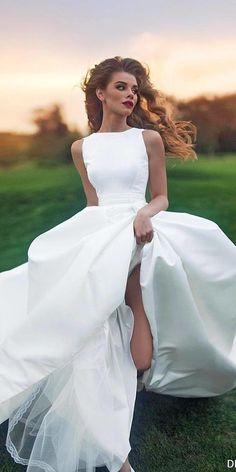 Top 24 Wedding Dresses For Celebration ❤ See more: http://www.weddingforward.com/wedding-ideas-part-2/ #weddingforward #bride #bridal #wedding