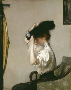 "Edmund Charles Tarbell (American, 1862-1938), ""Preparing for the Matinee,"" 1907; Indianapolis Museum of Art, Gift of Mrs. John G. Rauch Sr., 82.201"