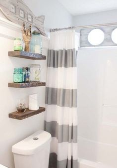 DIY Makeover Beach Themed Bathroom Decor Style