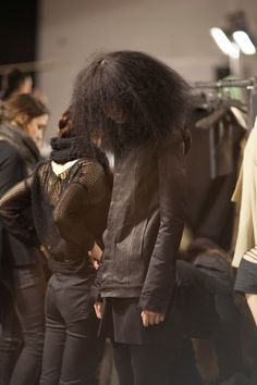Rick Owens Backstage #hair