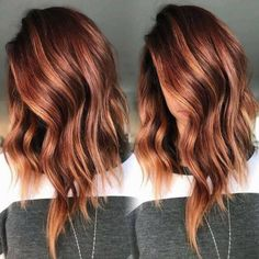 Hair Color Auburn, Ombre Hair Color, Cool Hair Color, Brown Hair Colors, Red Highlights In Brown Hair, Brown To Red Hair, Auburn Hair With Highlights, Red Hair For Fall, Amazing Hair Color
